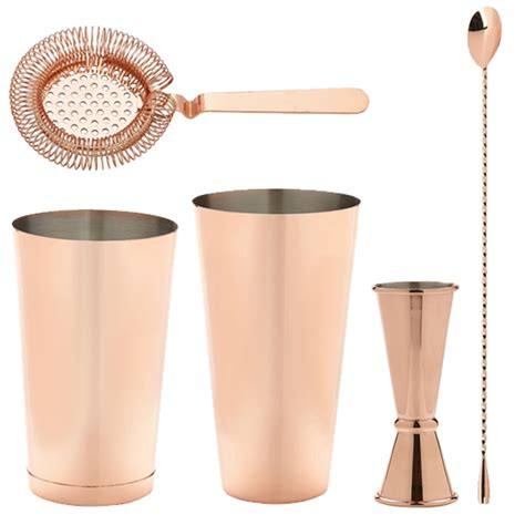 cocktail set copper cocktail set set 6 premium finish