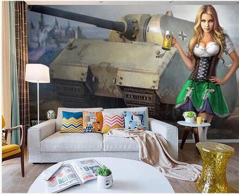 custom 3d photo wallpaper living room mural soviet tank retro 3d painting tv background