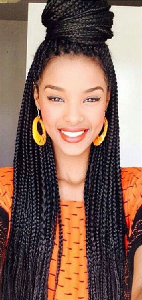 nubian hair single plaits with hair on sides african twist braid hairstyles