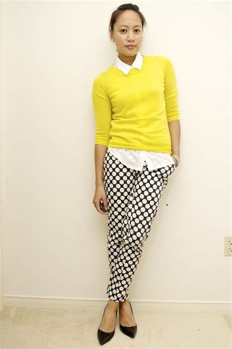 The Yellow Sweater like the yellow sweater with the black white my