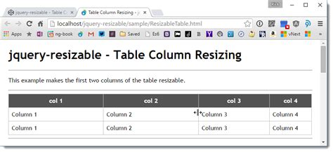 jquery ui layout not resizing jquery resizable and table column resizing rick strahl s