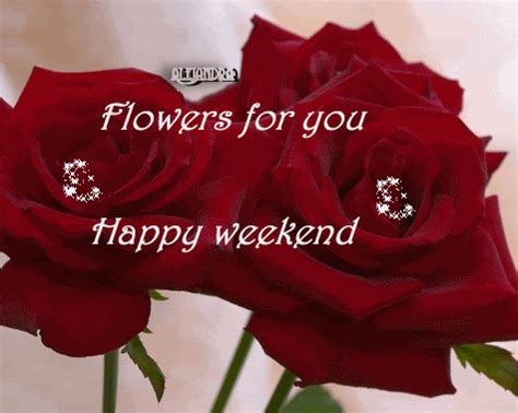 happy weekend flower card, sms & facebook status ~ hindi