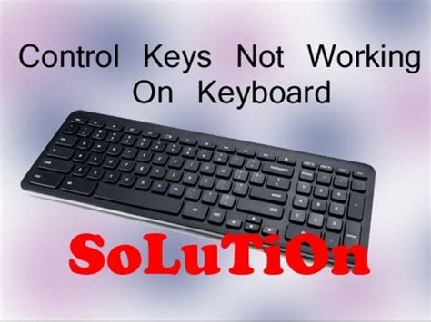 function keys are not working windows 8 control keys not working on keyboard solution youtube