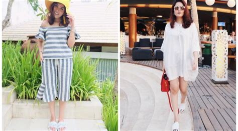 Ayunda Dress Tunik koleksi busana fancy nindy saat liburan di bali lifestyle liputan6