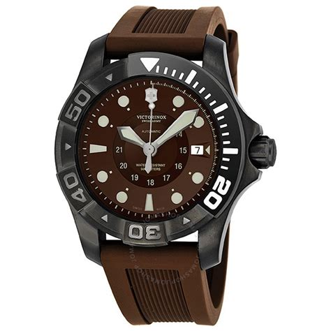 victorinox swiss army dive master 500 brown brown rubber s 241562 dive master