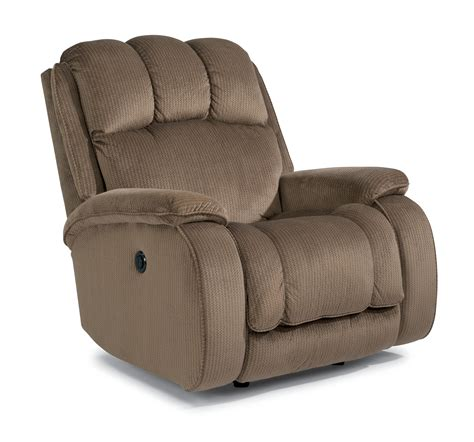 flexsteel huron casual power wall recliner with plush