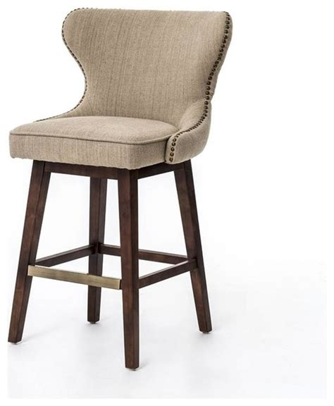 houzz counter stools metro julie swivel barstool hyde clay transitional