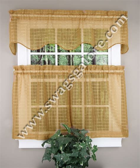Gold Kitchen Curtains Sheer Kitchen Curtains Gold Achim Curtains