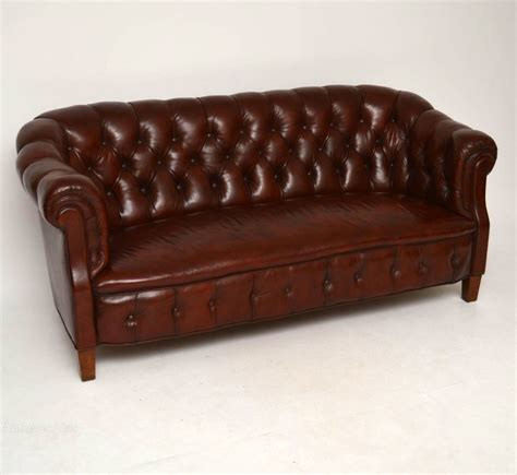 Leather Chesterfield Sofa Antique Swedish Leather Chesterfield Sofa Antiques Atlas