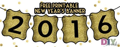 free printable banner happy new year happy new year banner free printable diy swank