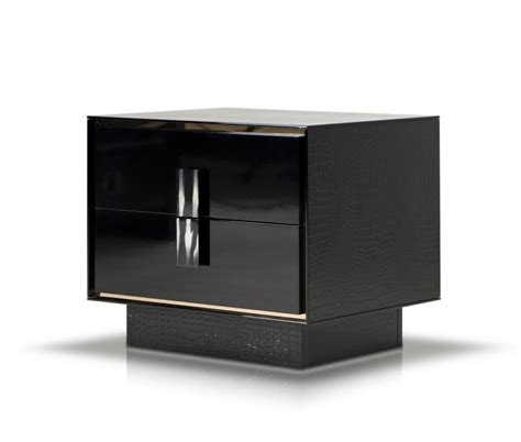 Modern Black Nightstands A X Bellagio Modern Black Crocodile Lacquer Nightstand Nightstands Bedroom