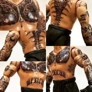rey mysterio tattoos mysterio jr decals custom figure