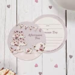 vintage afternoon tea coaster invitations by aliroo notonthehighstreet