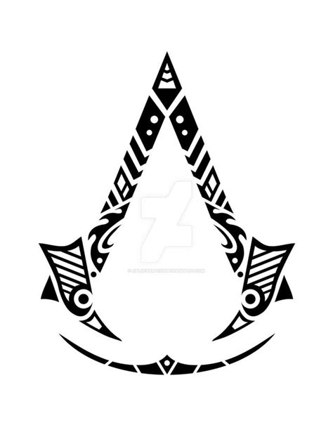 assassin s creed tattoo tribal assassin s creed by kelseyartist on
