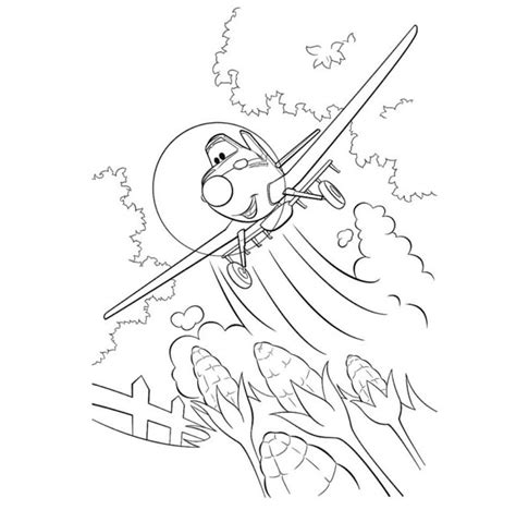 Airplane Coloring Pages To Print For Free Dusty Colouring Pages