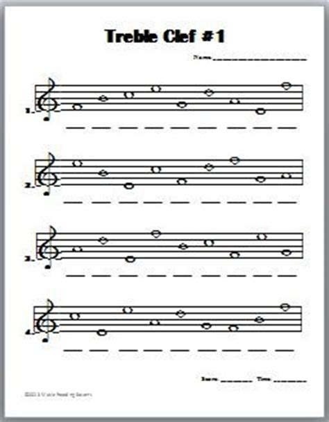 Note Name Worksheet by Treble Clef Notes Worksheet Images Recorder