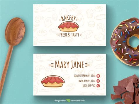 20 Professional Business Card Design Templates For Free Download Super Dev Resources Bakery Business Card Template