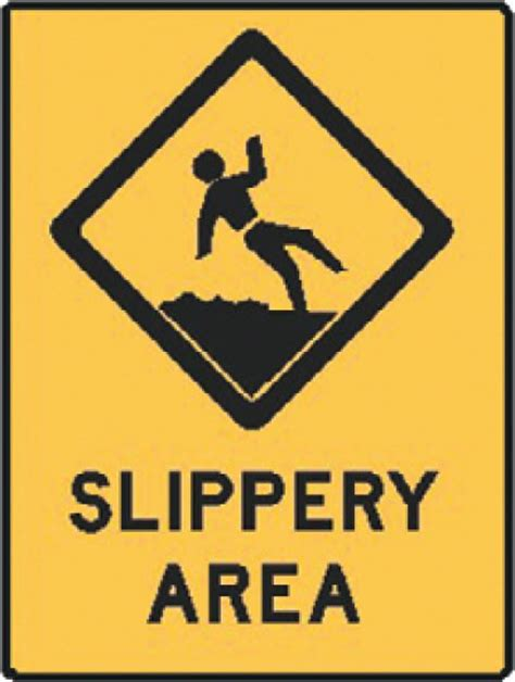 Home Storage Solutions by Water Safety Signs Aussie Slippery Area Water Safety