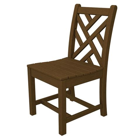 chippendale side chair polywood chippendale teak patio dining side chair cdd100te