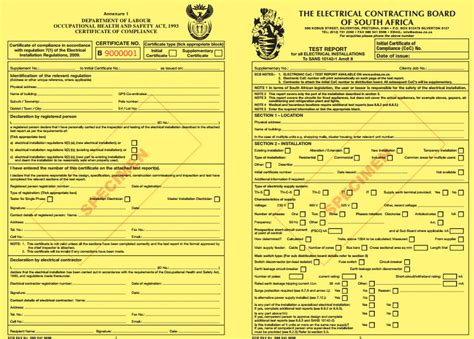 Electrical Certificate Of Compliance Inspections Abacas Solutions Electrical Safety Certificate Template