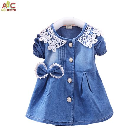 denim shirt for toddler dresses baby toddler lace appliques