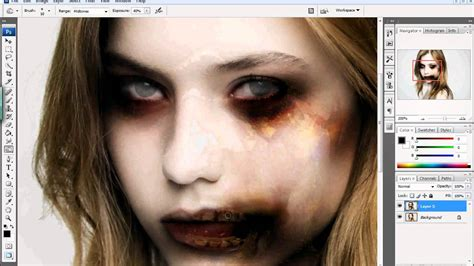 zombie tutorial on photoshop photoshop tutorial how to zombie fy yourself halloween