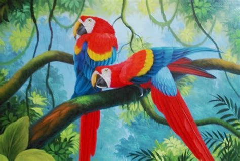 los pjaros el arte cuadros pinturas oleos paisajes con aves