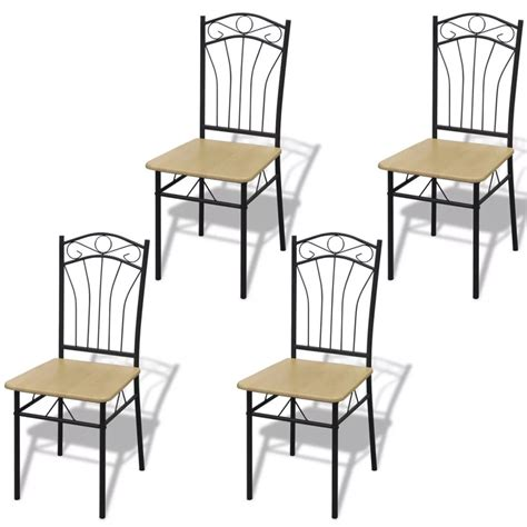 2 dining chairs with steel frame light brown vidaxl com 4 dining chairs with steel frame light brown vidaxl com