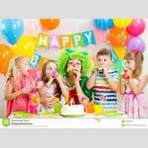 Children And Clown At Birthday Party Royalty Free Stock Photo - Image ...