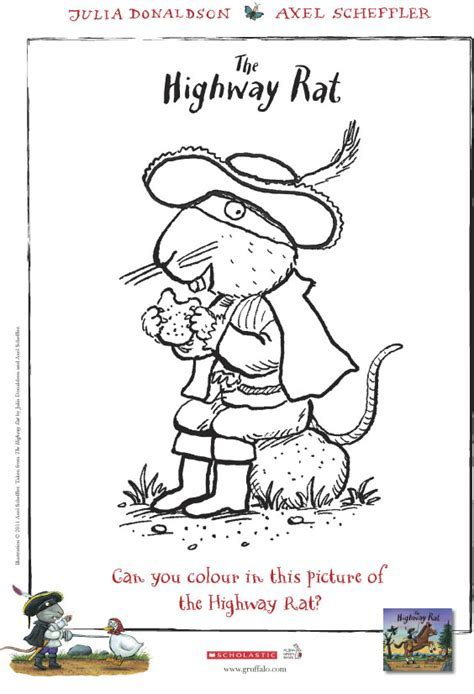Highway Rat Colouring Scholastic Book Club