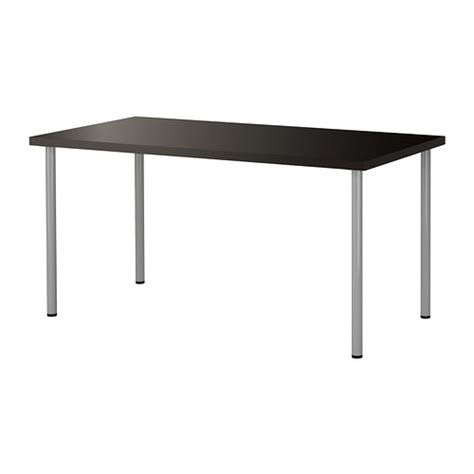 ikea bar top table linnmon adils table black brown silver color ikea