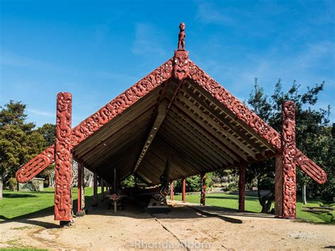 waka house waka taua war canoes at waitangi treaty grounds in new zealand