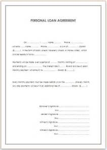 personal loan agreement template free personal loan agreement template for doc