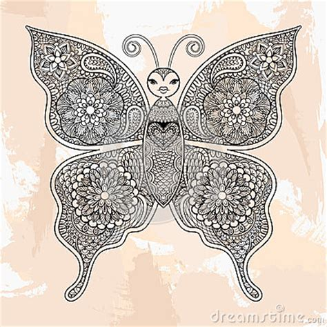 zentangle vector butterfly tattoo  hipster style