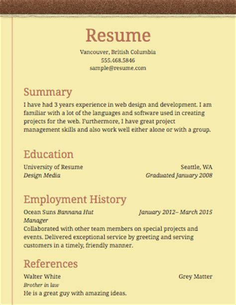 simple resume examples for students examples of resumes