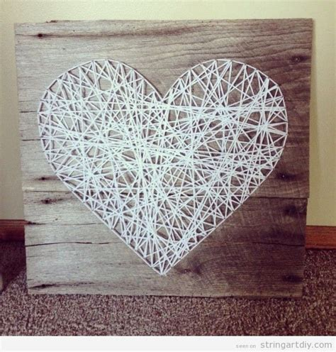 String Wall Patterns - wall string white string diy free