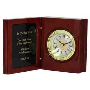 Desk Clock Gift Book Of Life Personalized Rosewood Desk Clock Groomsmen