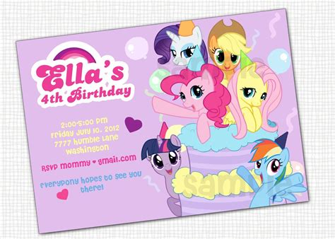 my pony birthday card template awesome my pony invitation template incheonfair