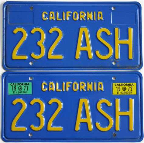 California Vanity License Plates by A Collection Of California License Plates The Citrus