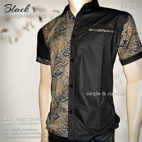Kemeja Hem Batik Pria Hg 028 jual batik pria seragam batik kerja black megamendung