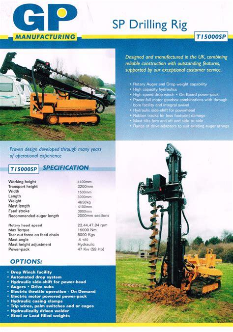hutte 203 piling rig t15000 drill drop hammer rig hire