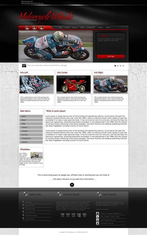 wordpress themes free motorcycle experience motorcycle red black motorcycle wordpress theme