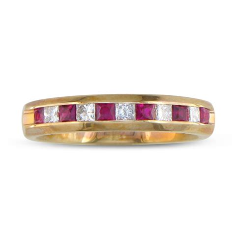 Ruby 11 2ct superjeweler 1 2ct ruby and channel set band