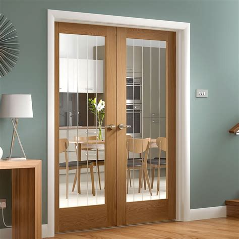 suffolk oak door pair etched lined clear glass