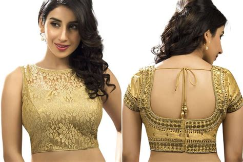 golden color blouse mini guide on choosing the right golden blouse designs