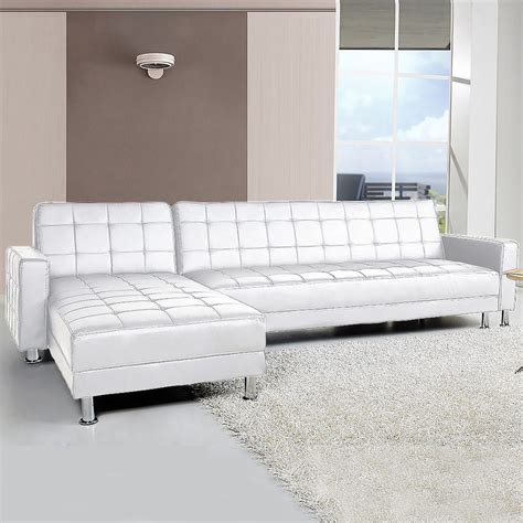 4 seater white leather sofa 4 seater pu leather sofa bed w chaise white buy