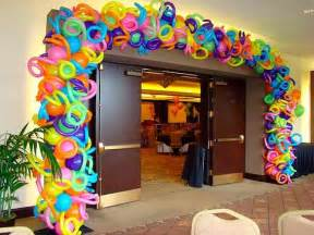 Candyland Wall Mural creative neon balloon arch graffiti amp glow theme event