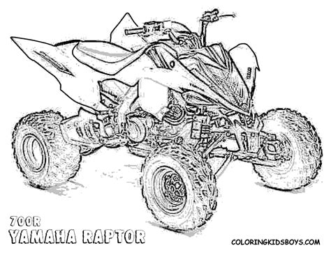 coloring pages quads four wheelers coloring pages raptor 700r atv 4