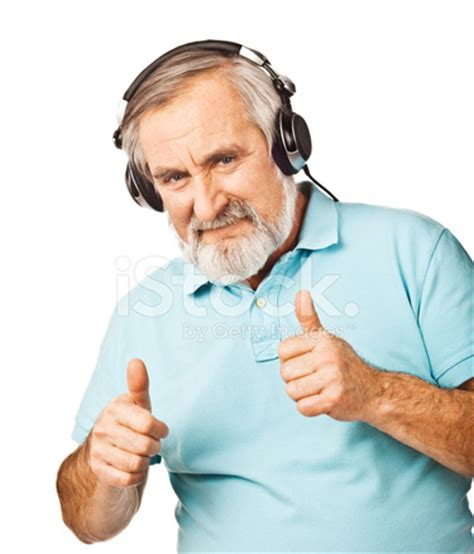 old guy listening to music stock photos freeimages.com