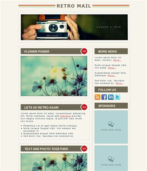 Email Newsletter Templates 40 Hand Picked Premium Designs Designrfix Com Mail Newsletter Template